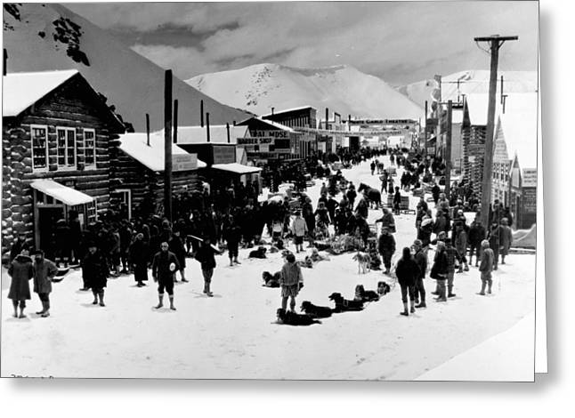Klondike Gold Rush Greeting Cards - Klondike Street Scene Greeting Card by Granger