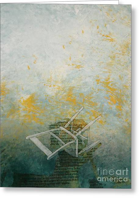 Religious Mixed Media Greeting Cards - Kneeling Greeting Card by Paul OBrien