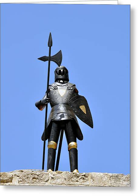 Knights Castle Greeting Cards - Knight armor. Greeting Card by Fernando Barozza