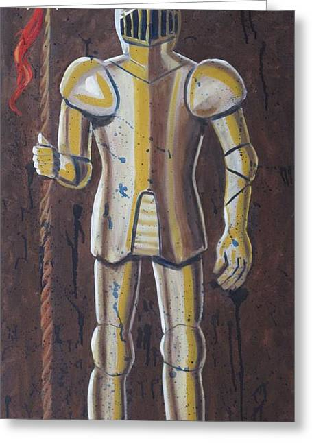Worn In Paintings Greeting Cards - Knight Greeting Card by Dina Day