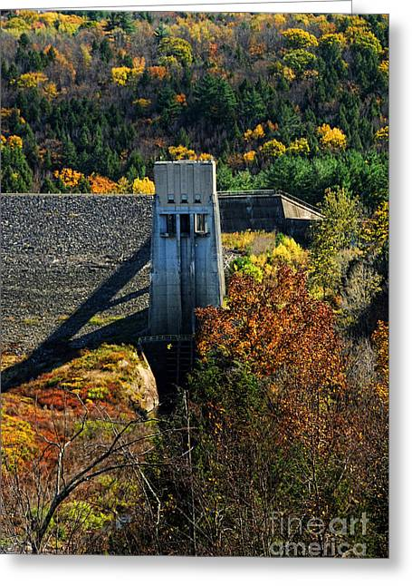 Beautiful Scenery Greeting Cards - Knightsville Dam Greeting Card by HD Connelly