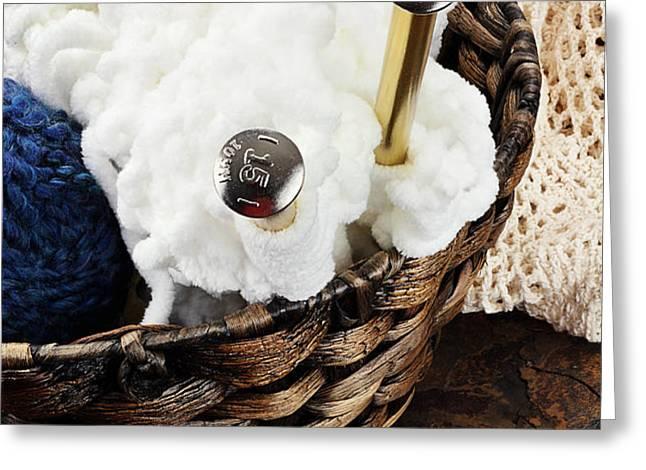 Knitting Needles Greeting Card by Stephanie Frey