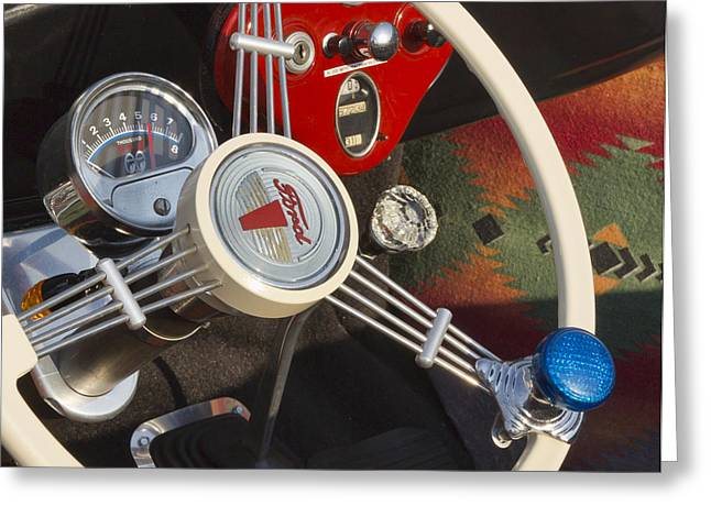 1932 Ford Greeting Cards - Knobs and Guages Greeting Card by Peter Chilelli