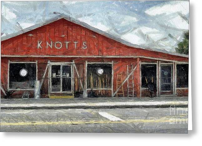 Hardware Greeting Cards - Knotts Hardware Greeting Card by Murphy Elliott
