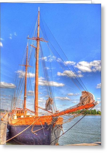 Village By The Sea Greeting Cards - Know the Ropes Greeting Card by Barry R Jones Jr