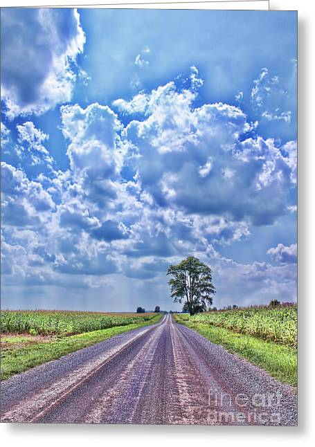 Gravel Road Greeting Cards - Knowing The Right Way Greeting Card by Cathy  Beharriell
