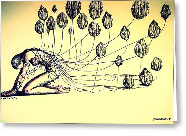 Knowledge Without Wisdom II Greeting Card by Paulo Zerbato