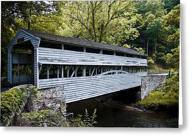 Knox Covered Bridge - Valley Forge Greeting Card by Bill Cannon