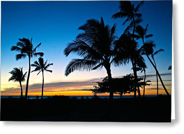 Ko Olina Lagoon Greeting Cards - Ko Olina lagoon 4 sunset Greeting Card by Eddie Freeman