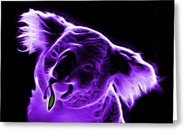 Koala Art Greeting Cards - Koala Pop Art - Violet Greeting Card by James Ahn