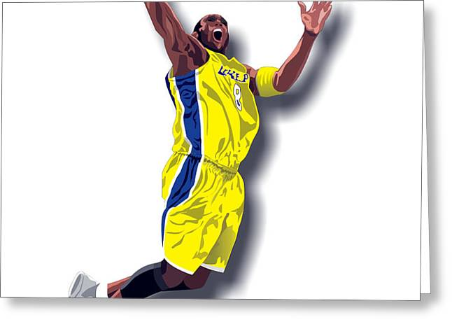 Kobe Bryant 8 Greeting Card by Walter Oliver Neal