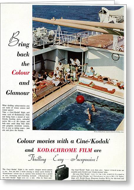 1938 Movies Greeting Cards - Kodachrome, 1938 Greeting Card by Granger