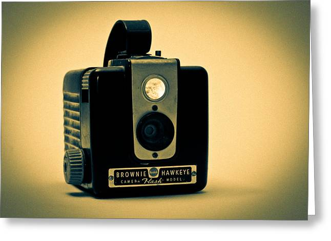 Camera Greeting Cards - Kodak Brownie Greeting Card by Bob Orsillo