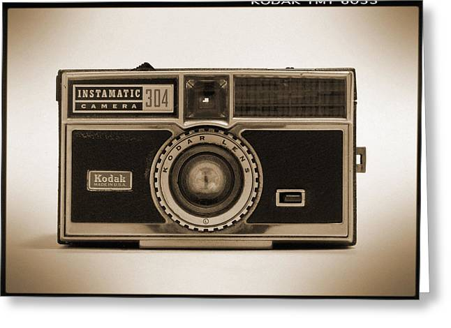 Kodak Instamatic Camera Greeting Card by Mike McGlothlen