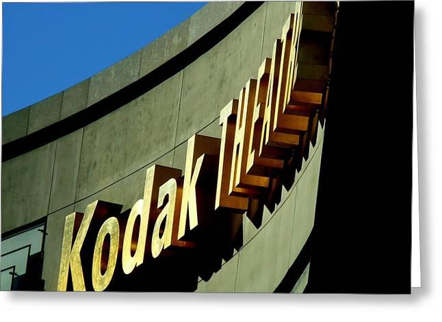 Kodak Theatre Greeting Cards - Kodak Theater Sign Greeting Card by Jeff Lowe