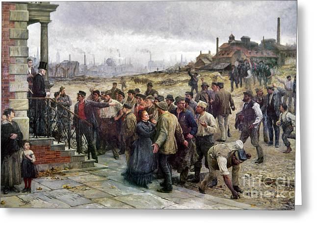 Proprietor Greeting Cards - Koehler: Strike, 1886 Greeting Card by Granger