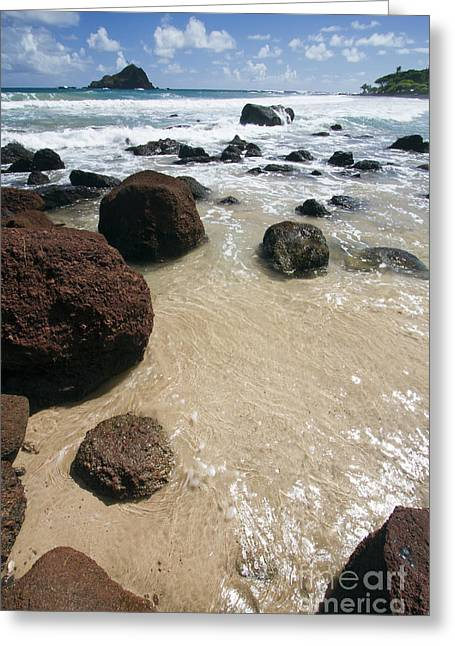 ; Maui Greeting Cards - Koki Beach Hana Maui Hawaii 2 Greeting Card by Dustin K Ryan