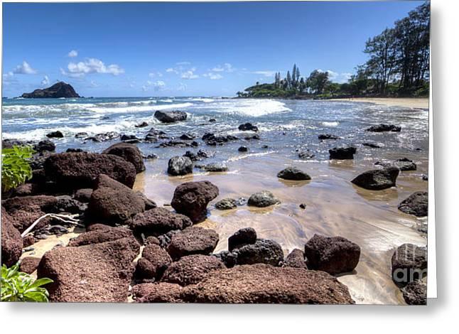 ; Maui Greeting Cards - Koki Beach Hana Maui Hawaii Greeting Card by Dustin K Ryan