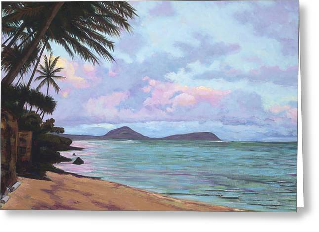 Overhang Paintings Greeting Cards - Koko Palms Greeting Card by Patti Bruce - Printscapes