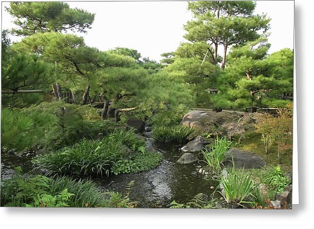 Kokoen Greeting Cards - Kokoen Samurai Gardens - Himeji City Japan Greeting Card by Daniel Hagerman