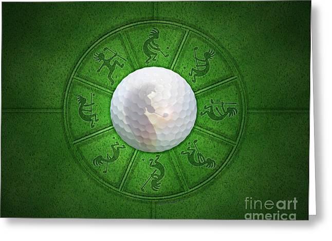 Tournament Digital Art Greeting Cards - Kokopelli Golf Greeting Card by Chris Rhynas