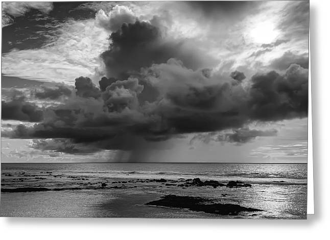 Squall Greeting Cards - Kona Coast Squall - Big Island Hawaii Greeting Card by Daniel Hagerman