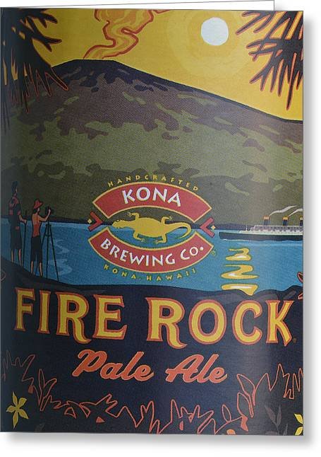 Kona Brewing Greeting Cards - Kona Fire Rock Greeting Card by Bill Owen