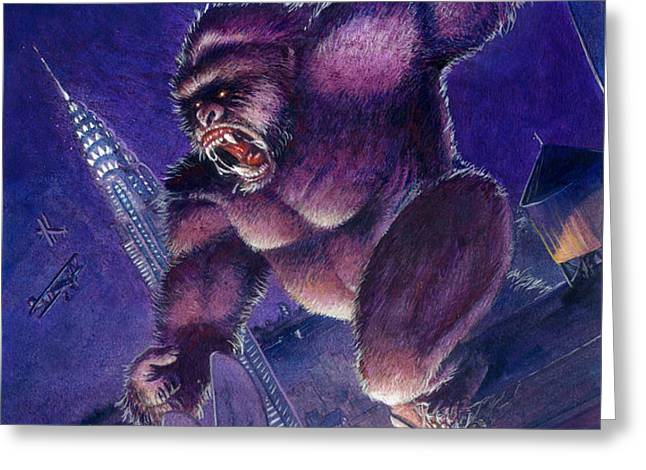 Kong Greeting Card by Ken Meyer jr