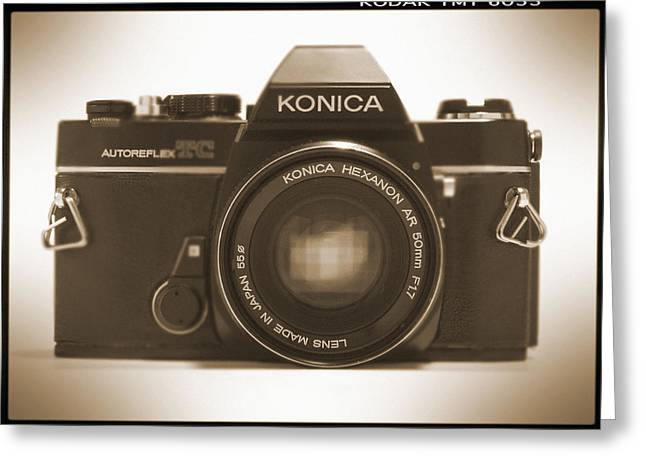 Slr Greeting Cards - Konica TC 35mm Camera Greeting Card by Mike McGlothlen