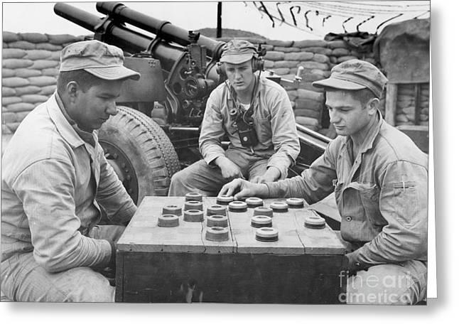 Outdoor Photographs Photographs Greeting Cards - Korean War (1950-1953) Greeting Card by Granger