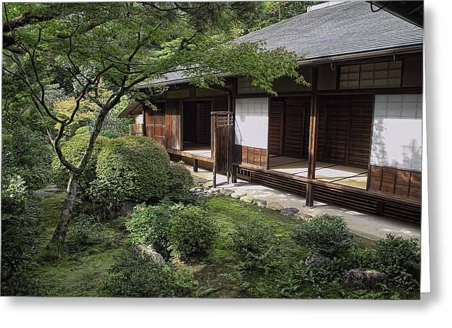 Shoji Greeting Cards - KOTO-IN ZEN TEA HOUSE and GARDEN - KYOTO JAPAN Greeting Card by Daniel Hagerman