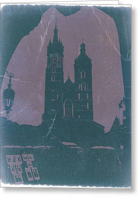European Cities Greeting Cards - Krakow Greeting Card by Naxart Studio