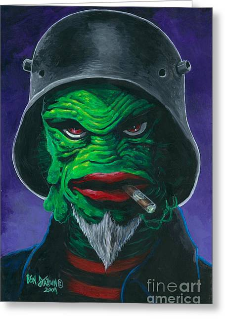 Frankenstogy Greeting Cards - Kreetcha Greeting Card by Ben Von Strawn