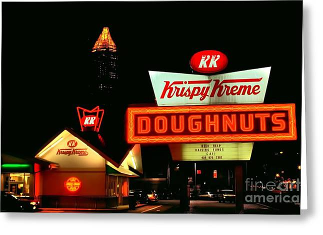 Photographers Conyers Greeting Cards - Krispy Kreme Doughnuts Atlanta Greeting Card by Corky Willis Atlanta Photography