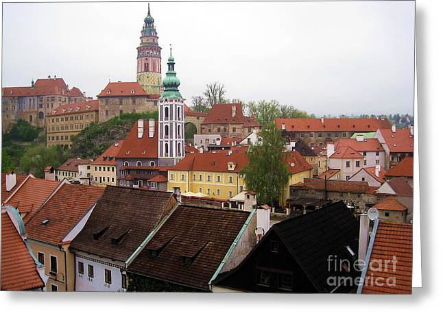 Czechia Greeting Cards - Krumlov  Roofs Greeting Card by Yury Bashkin