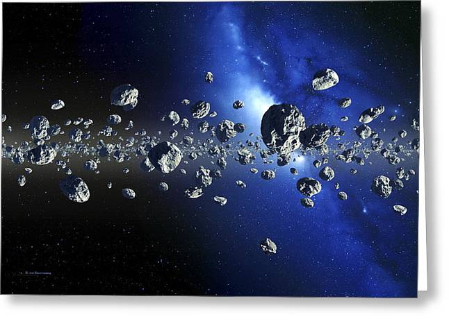 Physical Body Greeting Cards - Kuiper Belt Objects Greeting Card by Detlev Van Ravenswaay