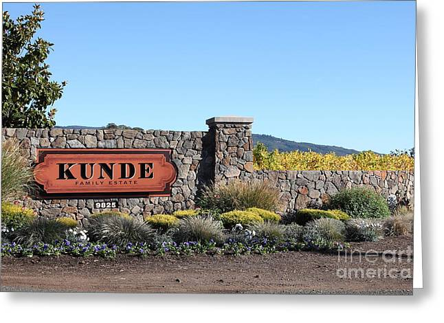 Pastoral Vineyards Greeting Cards - Kunde Family Estate Winery - Sonoma California - 5D19316 Greeting Card by Wingsdomain Art and Photography