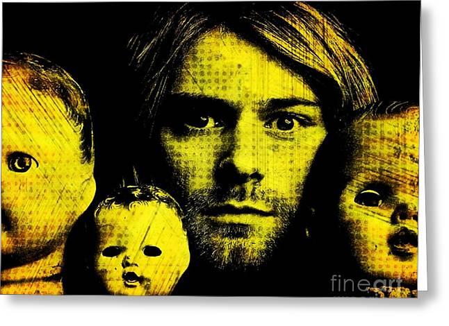Kurt Cobain Greeting Card by Ankeeta Bansal