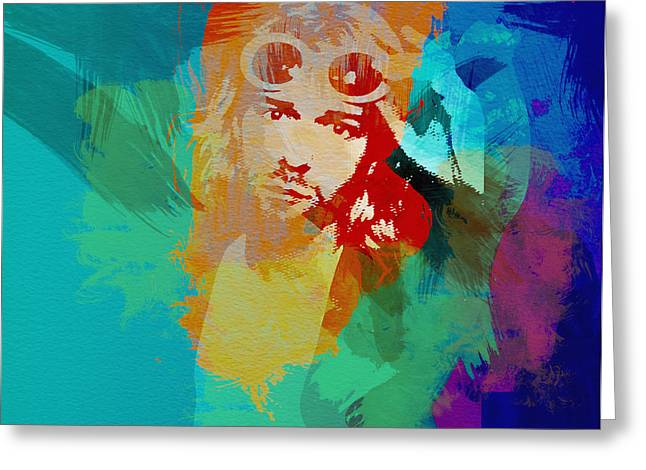 Kurt Greeting Cards - Kurt Cobain Greeting Card by Naxart Studio