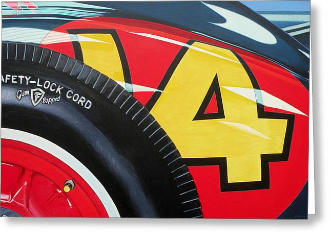 Indy Car Greeting Cards - Kurtis Kraft 14 Fuel Injection Special Greeting Card by Jeff Taylor