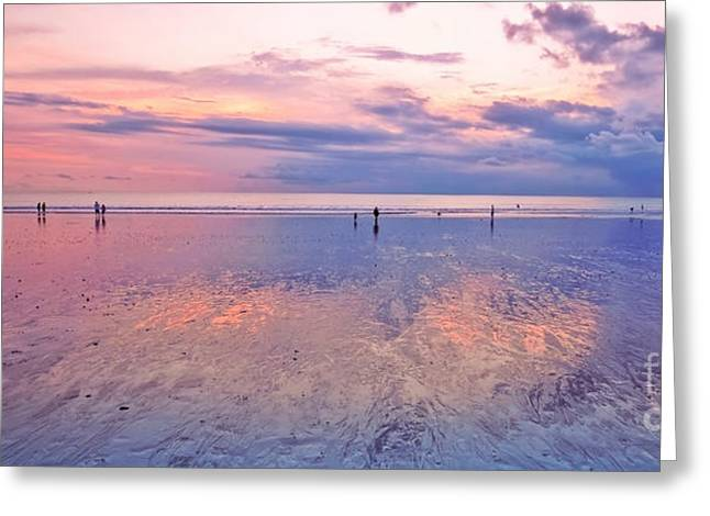 After Sunset Greeting Cards - Kuta Beach Bali Greeting Card by Charuhas Images