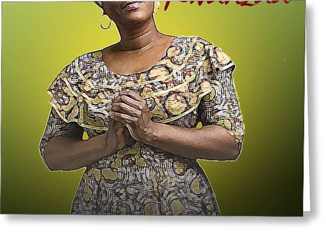 Kwanzaa Kujichagulia Greeting Card by Shaboo Prints