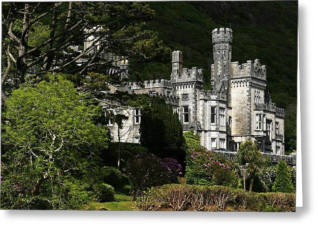 Belief Systems Greeting Cards - Kylemore Abbey, Connemara, County Greeting Card by Peter Zoeller