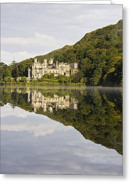 Belief Systems Greeting Cards - Kylemore Abbey, County Galway, Ireland Greeting Card by Peter McCabe