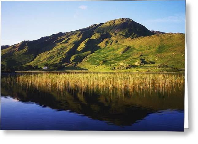Co Galway Greeting Cards - Kylemore Lake, Co Galway, Ireland Lake Greeting Card by The Irish Image Collection