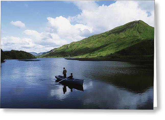 Co Galway Greeting Cards - Kylemore Lake, Co Galway, Ireland Greeting Card by The Irish Image Collection