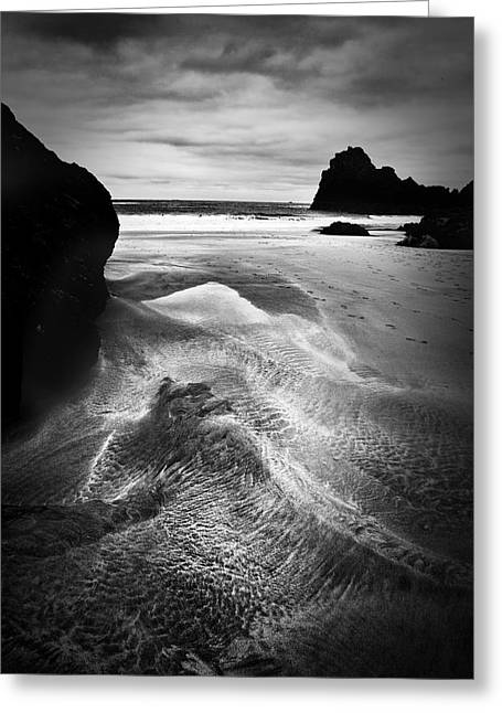 Sand Pattern Greeting Cards - Kynance Cove Cornwall Greeting Card by Dorit Fuhg