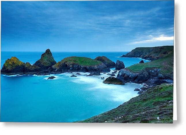 Summer Squall Greeting Cards - Kynance Cove Greeting Card by Michael Stretton