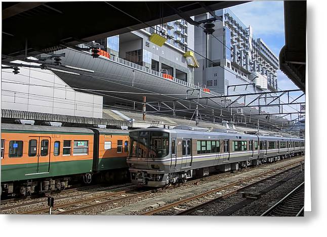 Kyoto Greeting Cards - Kyoto Main Train Station - Japan Greeting Card by Daniel Hagerman