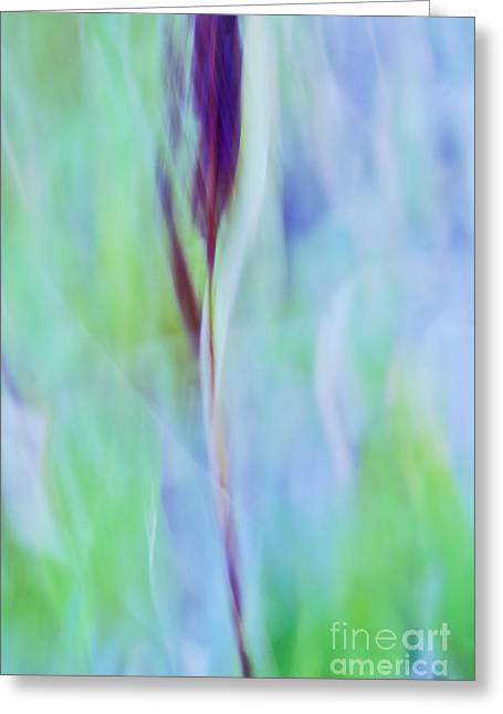 Green Abstract Greeting Cards - L Epi Greeting Card by Variance Collections